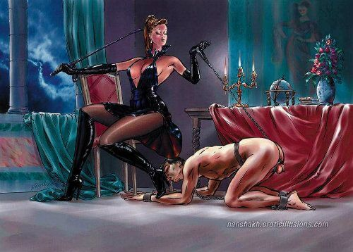 superior-femdom-woman-worshipped-by-inferior-male-slave